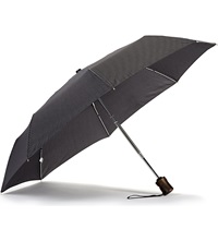 Fulton Window Pane Check Umbrella Navy
