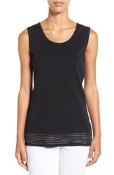 Ming Wang Women's Shimmer Neck Long Knit Tank