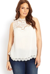 Forever 21 Boho Babe Crochet Top Cream