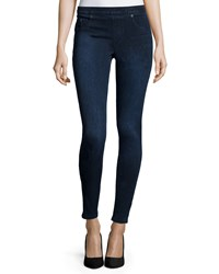 Spanx Jean Ish Denim Leggings Dark Blue Twilight Rinse