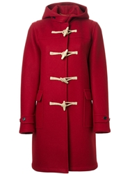 Saint Laurent Classic Duffle Coat Red