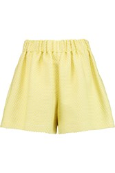 M Missoni Boucle Tweed Shorts Yellow