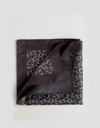 Noose And Monkey Pocket Square Scissors Print Made In Italy Black