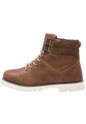 Your Turn Laceup Boots Brown