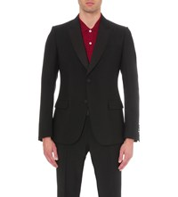Gucci Multi Motif Mohair And Wool Blend Suit Black