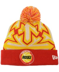 New Era Houston Rockets Glowflake Pom Knit Hat