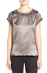 Women's Adrianna Papell Embellished Charmeuse Top
