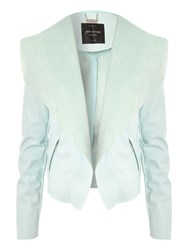 Jane Norman Pu Waterfall Jacket Blue