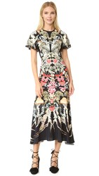 Temperley London Victory Print Dress Black Mix