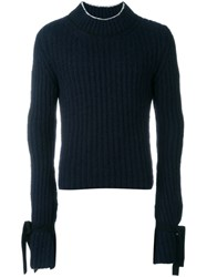 J.W.Anderson J.W. Anderson Elongated Sleeve Jumper Blue