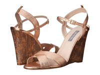 Sarah Jessica Parker Davies Merry Go Round Leather Women's Wedge Shoes Gold