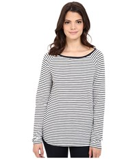 Jag Jeans Brier Stripe Tee Classic Fit Shirt Striped Jersey Nautical Navy Women's T Shirt