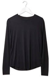 Crew Neck Top By Boutique Black