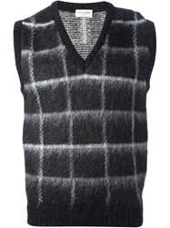Saint Laurent Sleeveless Knit Sweater Black