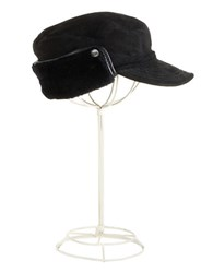 Ugg Shearling Trimmed Cap Black