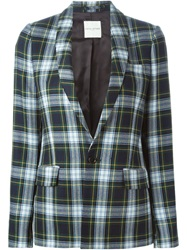 Each X Other Tartan Blazer Green