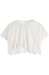 Julien David Tulle Cropped Top