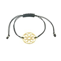 Essentia By Love Lily Rose Dreamcatcher Friendship Bracelet Black And Gold