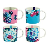 Joules Cuppa Multi Floral Mug Set Of 4