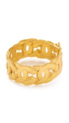 Wgaca Chanel Layered Cc Bangle Bracelet Previously Owned Gold