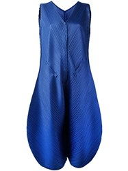 Issey Miyake Pleats Please By Pleated Jumpsuit Blue