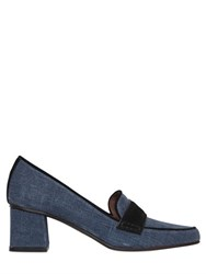 Tabitha Simmons 50Mm Slub Canvas And Suede Pumps