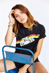 Urban Outfitters The Strokes Boyfriend Tee Washed Black