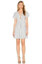 Lucca Couture Lace Up Dress White