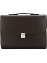 Valextra 'Triennale' Briefcase Brown