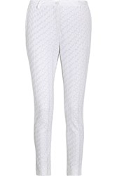 Missoni Crochet Knit Straight Leg Pants White