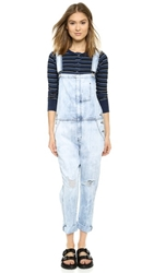 Current Elliott The Ranchhand Overalls City Bleach Destroy