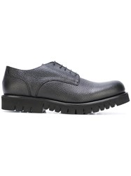Emporio Armani High Sole Derby Shoes Black