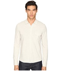 Billy Reid Combo Pique Button Down Light Heather Grey