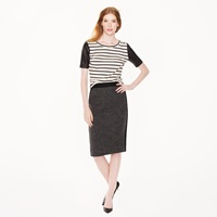 J.Crew Petite No. 2 Pencil Skirt In Colorblock Houndstooth Wool