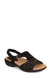 Women's Earth 'Arbor' Slingback Sandal Black Soft Nubuck