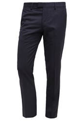 Banana Republic Suit Trousers Navy Dark Blue
