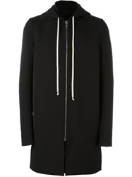 Rick Owens Long Length Hoodie Black