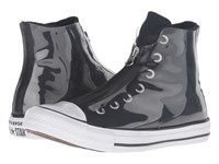 Converse Chuck Taylor All Star Shroud Translucent Rubber Hi Black Black White Women's Lace Up Casual Shoes