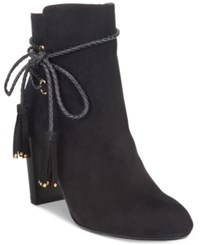 Thalia Sodi Palomaa Rope Tie Booties Only At Macy's Women's Shoes Black