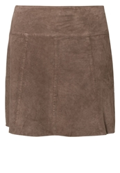 Marc O'polo Leather Skirt Beige