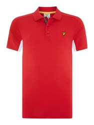 Lyle And Scott Golf Short Sleeve Panel Polo Shirt Red