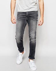 Jack And Jones Jack And Jones Washed Grey Jeans In Skinny Fit With Stretch Grey