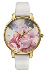 Ted Baker Women's London Leather Strap Watch 40Mm
