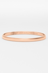 Kate Spade 'Idiom Stop And Smell The Roses' Bangle Rose Gold