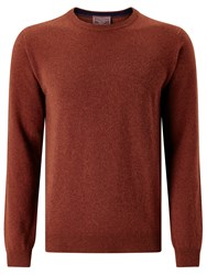 John Lewis Made In Italy Cashmere Crew Neck Jumper Russet