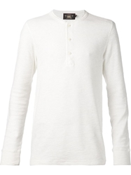 Rrl Ribbed Henley T Shirt White