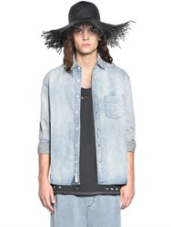 Cheap Monday Washed Light Cotton Denim Shirt