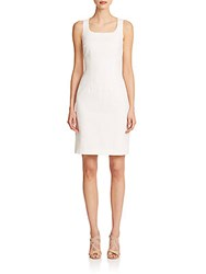 Peserico Textured Sheath Dress Off White