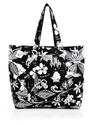 Polo Ralph Lauren Hawaiian Print Tote Black White