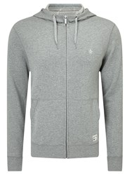 Original Penguin Zip Through Hoodie Rain Heather